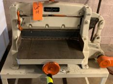 """CHANDLER & PRICE MANUAL GUILLOTINE CUTTER WITH 2.5"""" OPENING [RIGGING FEES FOR LOT #14 - $50 USD PLUS"""