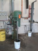 """COWLES 410VHV DISSOLVER MIXER WITH PNEUMATIC LIFT, STAINLESS STEEL SHAFT WITH 8"""" BLADE, 10 HP, S/"""