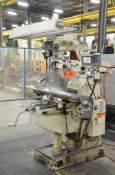 """EUMEGA (2001) MDV4 VERTICAL TURRET MILLING MACHINE WITH 10""""X50"""" TABLE, SPEEDS TO 4,200 RPM"""