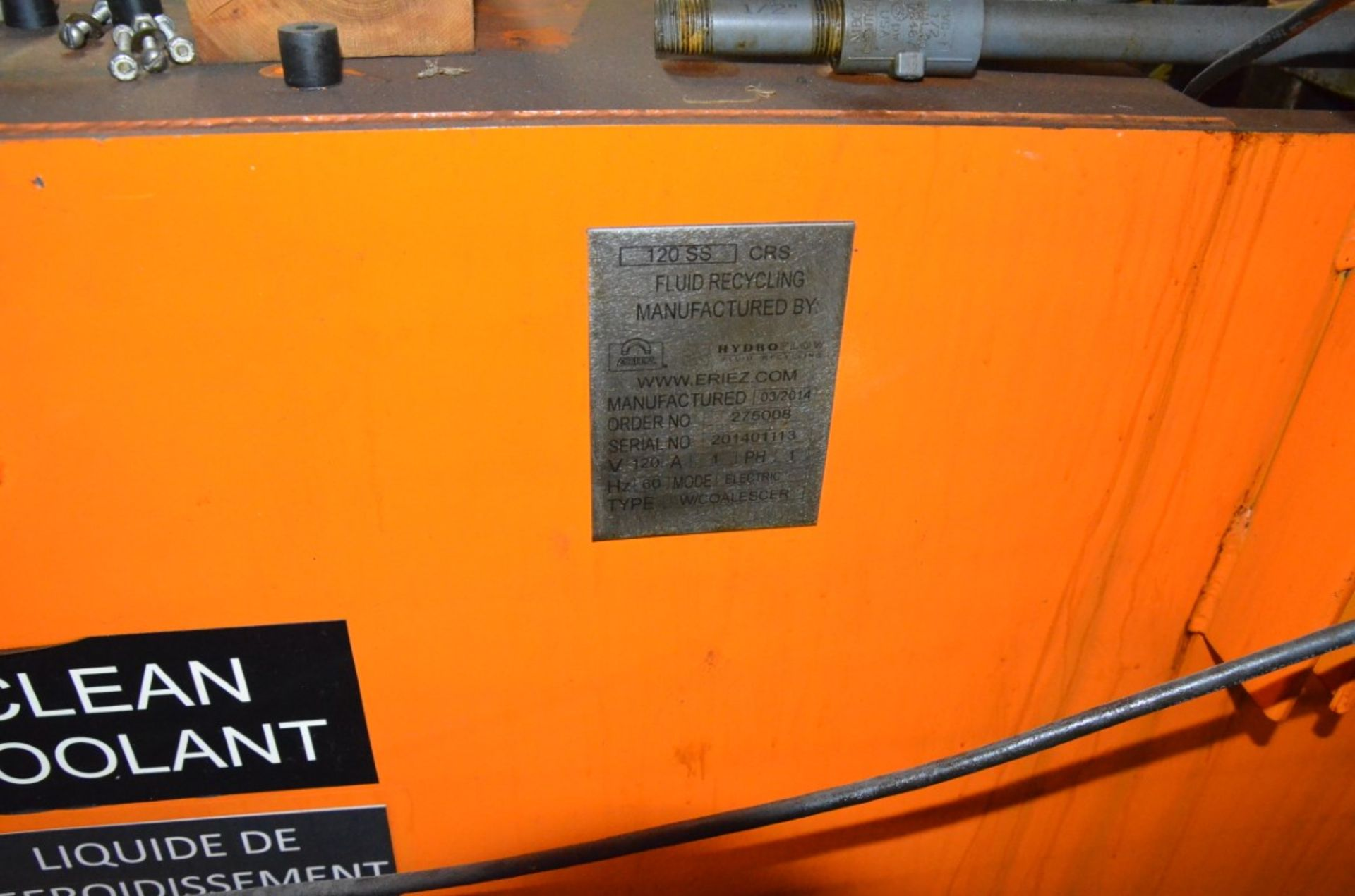 ERIEZ 120 SS MAGNETIC FILTRATION SYSTEM, S/N N/A - Image 6 of 6