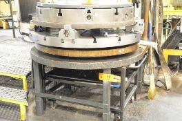 """VPC POWERED ROTARY SUB TABLE WORK SETUP SYSTEM WITH (2) 56"""" T-SLOT SUB TABLES, S/N N/A (550"""