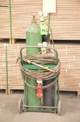 LOT/ OXY-ACETYLENE TORCH SET WITH CADDY (NO TANKS)