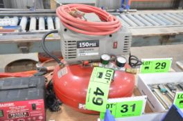 PORTER CABLE 150 PSI PANCAKE COMPRESSOR, S/N N/A