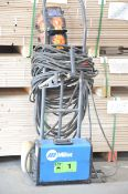 MILLER CST 280 ARC WELDER WITH CABLES AND GUN, S/N MG310271G