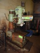 "MAS VR2 2' RADIAL ARM DRILL WITH SPEEDS TO 4500 RPM, APPROX. 8"" DIAMETER COLUMN, S/N: 4760 (CI)"