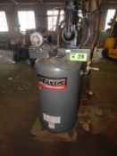 CAMPBELL-HAUSFELD MAXUS UPRIGHT TANK-MOUNTED AIR COMPRESSOR WITH 7.5 HP, 80 GAL. CAPACITY, S/N: