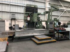 "PARPAS BF 130 NC CNC BED TYPE VERTICAL MACHINING CENTER WITH HEIDENHAIN TNC530 CNC CONTROL, 59""X150"""