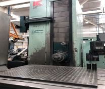 KURAKI (1999) KBT-13DXA CNC TABLE TYPE HORIZONTAL BORING MILL WITH FANUC 16M CNC CONTROL, 5.12""