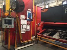LOT/ OP 10-2 ABB-MILLER (2013) ROBOTIC WELDING CELL CONSISTING OF (2) ABB IRC-5 M2004 WELDING ROBOTS