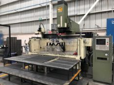 "MAKINO EDNC156 CNC SINKER TYPE EDM WITH MAKINO MGE20 CNC CONTROL, 98""X48""X33"" TANK, TRAVELS X-59."