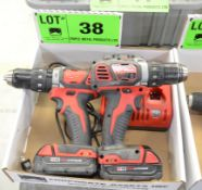 LOT/ MILWAUKEE CORDLESS DRILLS WITH CHARGER