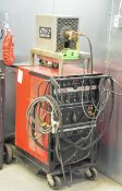 LINCOLN ELECTRIC SQUARE WAVE TIG-355 DIGITAL TIG WELDER WITH CABLES & GUN, ITW COOLING SYSTEMS