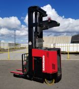 """RAYMOND (2001) EASi-DR30TT 36V ELECTRIC REACH TRUCK WITH 3000 LB. CAPACITY, APPROX. 261"""" VERTICAL"""