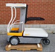 """CROWN (2009) WAV50-118 24V ELECTRIC ORDER PICKER WITH 500 LB. CAPACITY, 118"""" VERTICAL LIFT, BUILT-IN"""