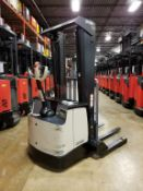 """CROWN (2014) SH5520-40 24V WALK-BEHIND ELECTRIC PALLET STACKER WITH 4000 LB. CAPACITY, 128"""" MAX."""