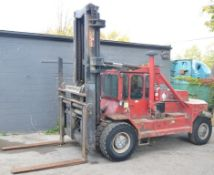 TAYLOR Y30W0H DIESEL OUTDOOR FORKLIFT WITH 30,000 LB. CAPACITY, 2 STAGE MAST, SIDE SHIFT,