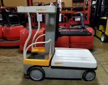 """CROWN (2013) WAV50-118 24V ELECTRIC ORDER PICKER WITH 500 LB. CAPACITY, 118"""" VERTICAL LIFT, BUILT-IN"""