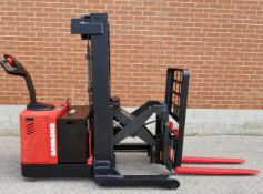 """RAYMOND RWR300 24V ELECTRIC WALK-BEHIND PALLET STACKER WITH 3000 LB. CAPACITY, 153"""" MAX. VERTICAL"""
