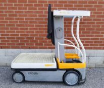 """CROWN (2008) WAV50-118 24V ELECTRIC ORDER PICKER WITH 500 LB. CAPACITY, 118"""" VERTICAL LIFT, BUILT-IN"""
