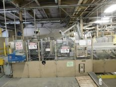 LOT/ DOUGLAS MACHINE (2005) DOUGLASIMCP WRAP-AROUND CASE PACKER, S/N: M205006 WITH NORDSON HOT