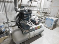 QUINCY FE390-120 AIR COMPRESSOR WITH 20 HP MOTOR AND VAN RA-75 AIR DRYER, S/N: N/A [RIGGING FEE