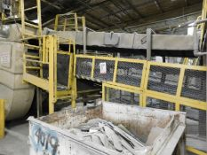 "APPROX. 56' OF 46"" STEEL BELT INCLINE CONVEYOR [RIGGING FEE FOR LOT #36 - $500 USD PLUS APPLICABLE"