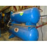 LOT/ (2) AIR RECEIVER TANKS (CI)
