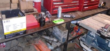 """10' X 30"""" WELDING TABLE (NO CONTENTS) (CI)"""