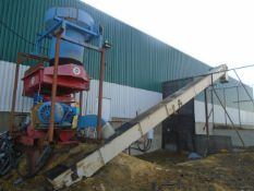 """MORBARK CHIP-PAC ELECTRIC CHIPPER WITH APPROX. 15"""" CAPACITY, 45' INCLINE CONVEYOR, S/N: N/A (CI)"""