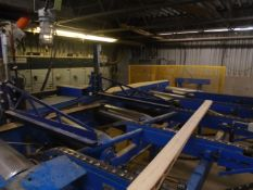 CUSTOM LUMBER INFEED SYSTEM CONSISTING OF (1) 32'L X 10'W 4 CHAIN POWERED INFEED CONVEYOR, (1) 2