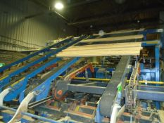 PHL (5) CHAIN DECLINE TRANSFER CONVEYOR WITH 81-X SIZE LUG CHAIN, ELECTRICAL MOTORIZATION AND