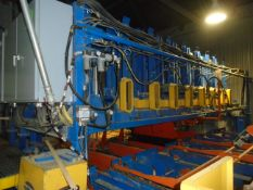 INOTECH (2015) 16' STACKER WITH 13' (5) CHAIN INFEED/TRANSFER CONVEYOR, UNSCRAMBLER WITH 17'W (15)