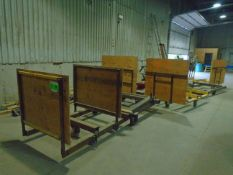 LOT/ STEEL FRAME LUMBER CARTS (APPROX. 10)