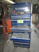 LOT/ MASTERCRAFT ROLLING TOOL CHEST WITH CONTENTS - TOOLS & SHOP SUPPLIES