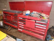 LOT/ (2) JET TOOL BOXES WITH CONTENTS - TOOLS & SHOP SUPPLIES