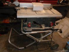"BOSCH TS3000 10"" PORTABLE TABLE SAW, S/N: 210100638"
