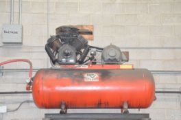 DEVILBISS VAV-5060 2-STAGE TANK MOUNTED PISTON TYPE AIR COMPRESSOR WITH MAX 15 HP, 175 PSI CAPACITY,