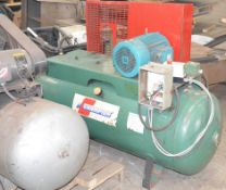 CHAMPION AIR COMPRESSOR TANK WITH 10HP ELECTRIC MOTOR, MAX 120 PSI CAPACITY, 575V/3PH/60HZ, NOT IN