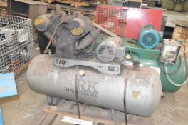 REK MACHINERY DF-580H 2-STAGE TANK MOUNTED PISTON TYPE AIR COMPRESSOR WITH 5HP, MAX 120 PSI