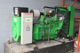AB GENSETS POWERSTAR 6D165JNBCU DIESEL STATIONARY GENERATOR SET WITH 165KW CAPACITY, 600V/3PH/