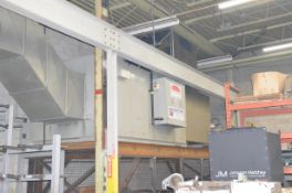 TWINFLOW AIR SYSTEMS (2014) TF5HSN NATURAL GAS FIRED DIRECT AIR MAKE UP UNIT WITH 5,000,000 BTU/HR