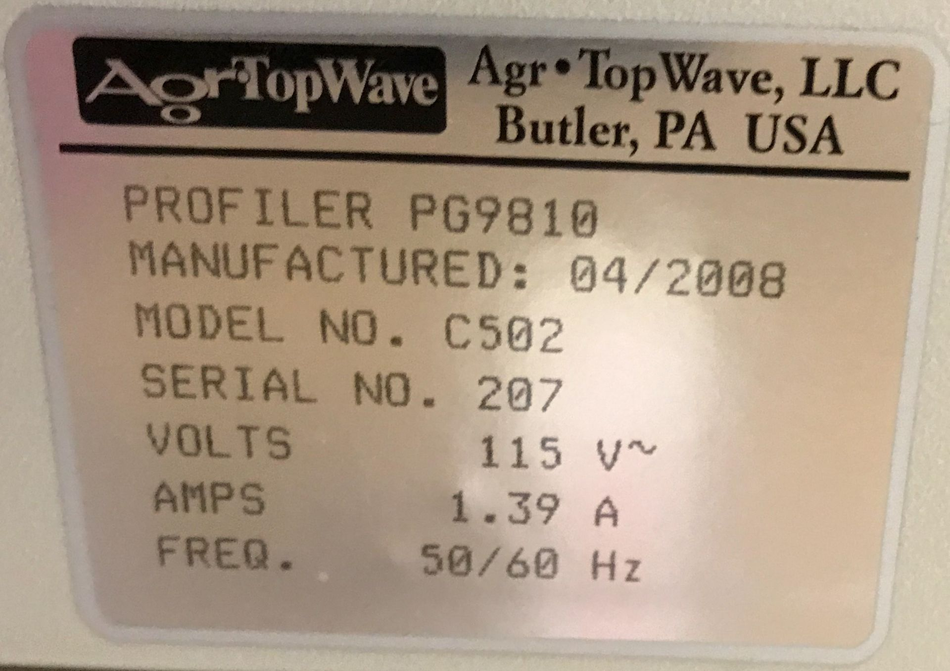 AGR TOPWAVE (2008) PG9810ML MULTI-LAYER DIGITAL PROFILER WITH TOUCH SCREEN CONTROL, S/N: 207 [ - Image 2 of 2