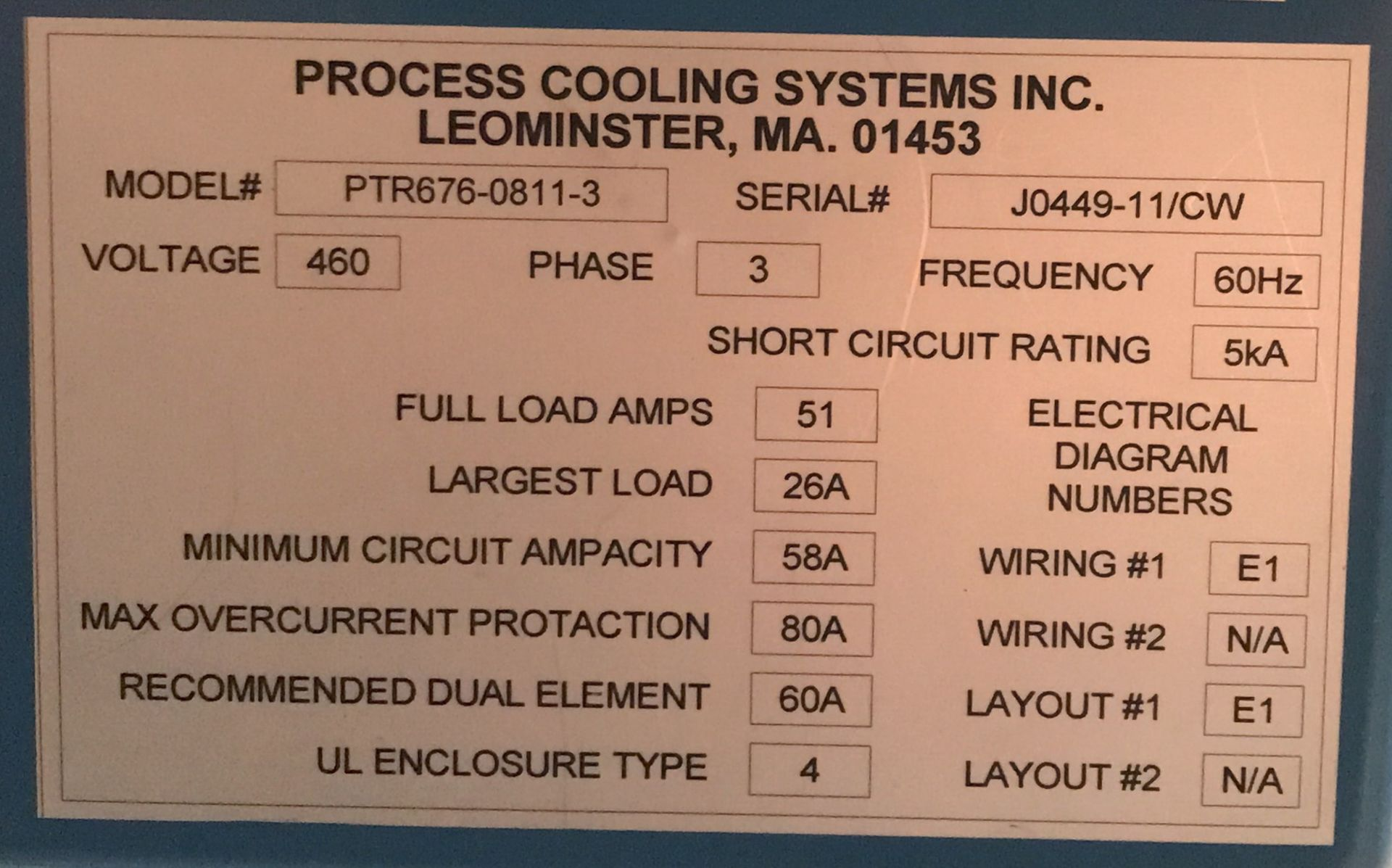 TRANE RAUJC404PC13A0DF00C00 ROOFTOP CHILLER UNIT WITH 460V, 3 PHASE, PROCESS COOLING SYSTEMS - Image 4 of 4
