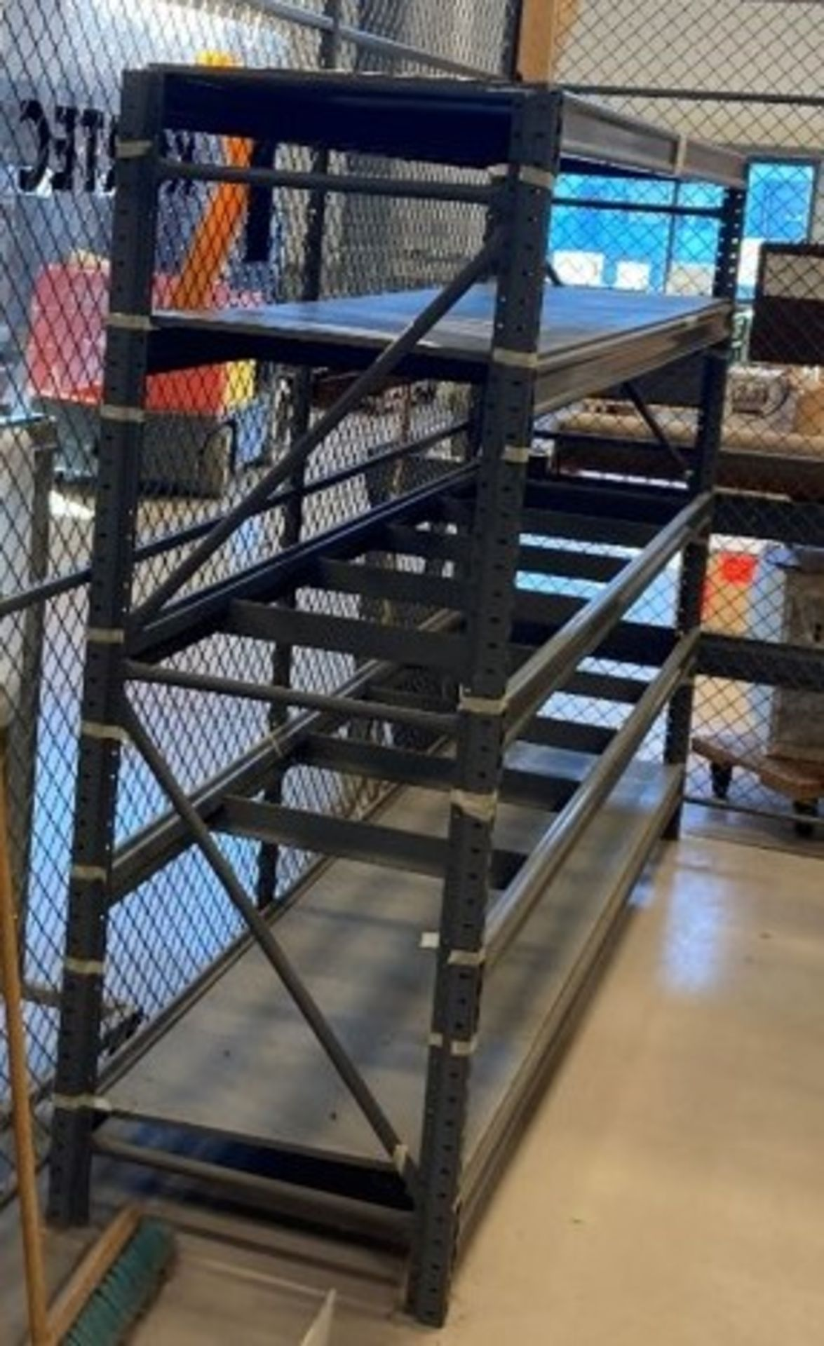 LOT/ (APPROX. 6) SECTIONS OF STEEL SHELVING LOCATED THROUGHOUT PLANT (NO CONTENTS) [RIGGING FEES FOR - Image 2 of 5