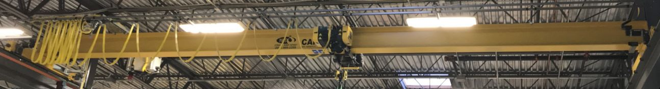 MASS CRANE & HOIST 3 TON CAPACITY SINGLE GIRDER TOP-RUNNING OVERHEAD BRIDGE CRANE WITH ELECTRIC