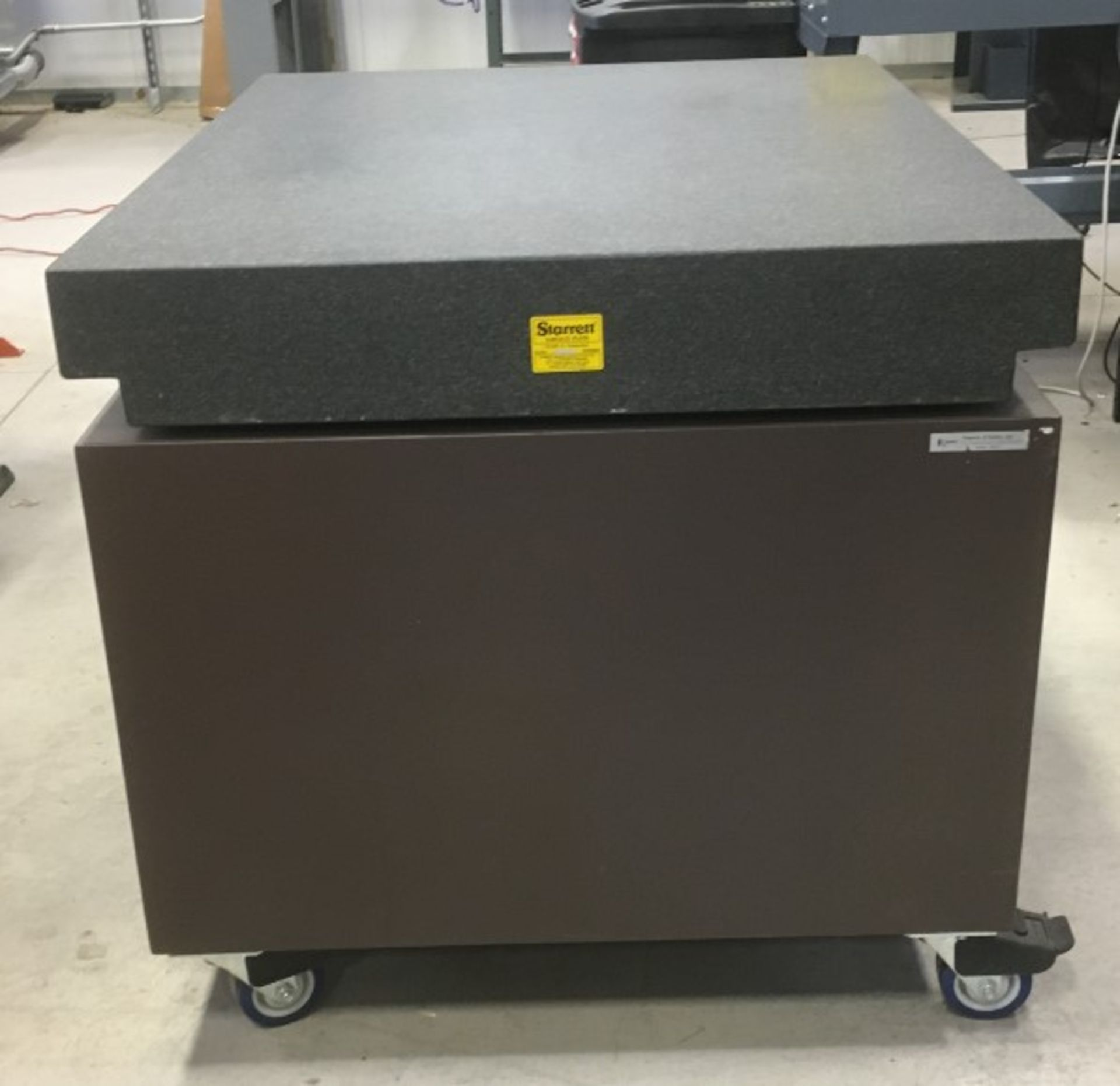 STARRETT 48ÓX36ÓX35ÓH GRANITE SURFACE PLATE WITH ROLLING STAND [RIGGING FEES FOR LOT# 10A - $50 - Image 3 of 3