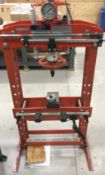 JET HP-15A H-FRAME HYDRAULIC SHOP PRESS WITH 15 TON CAPACITY, S/N: N/A [RIGGING FEES FOR LOT# 6 - $