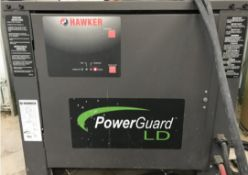 HAWKER POWERGUARD LD 36V BATTERY CHARGER, S/N: BJ87484 [RIGGING FEES FOR LOT# 24 - $50 USD PLUS