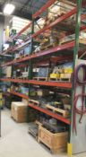 LOT/ (20) SECTIONS OF MEDIUM DUTY PALLET RACKING (NO CONTENTS) (CI)