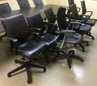 LOT/ (8) OFFICE CHAIRS (NO TABLE)